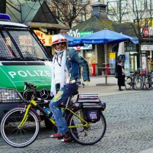 سائق دراجة في برلين